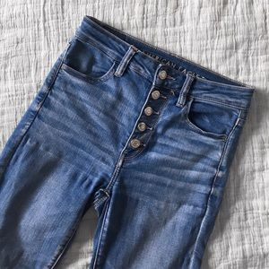 American Eagle Button Up High Waisted Skinny Jean
